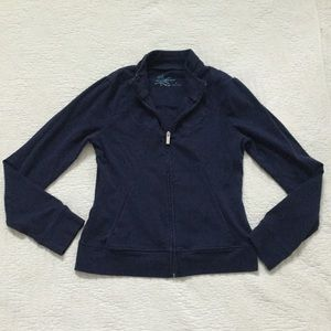 Fresh Produce Long Sleeve Active Jacket in Navy